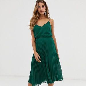 ASOS pleated midi dress